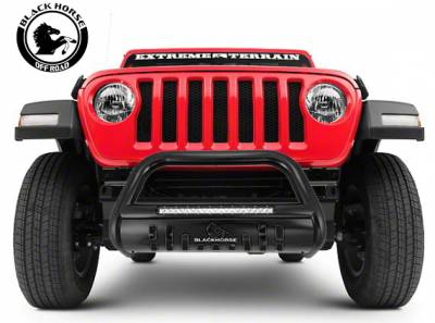 Black Horse Off Road - A | Beacon Bull Bar | Black | Skid Plate | BE-JEWRB18 - Image 2