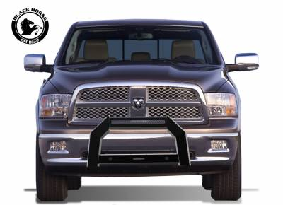 Products - Black Horse Off Road - Black Horse Black Steel Armour Bull bar 09-18 Dodge Ram 1500 Protector