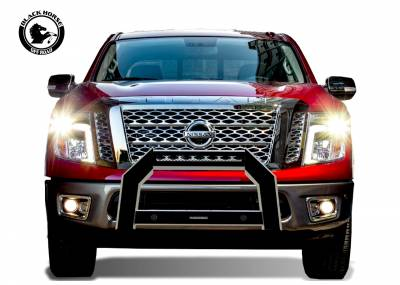 Products - Front End Protection - Black Horse Off Road - A | Armour Bull Bar | Satin Black | AB-NI20-NL