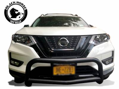 Black Horse Off Road - Bull Bar BB116705A-SP - Black with Black Skid Plate Nissan Rogue - Image 3