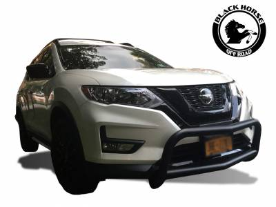 Black Horse Off Road - Bull Bar BB116705A-SP - Black with Black Skid Plate Nissan Rogue - Image 4