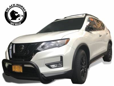 Black Horse Off Road - Bull Bar BB116705A-SP - Black with Black Skid Plate Nissan Rogue - Image 5