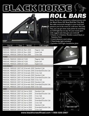 Black Horse Off Road - Black Horse RB09BK Black 19-20 Jeep Gladiater Classic Roll Bar - Image 5