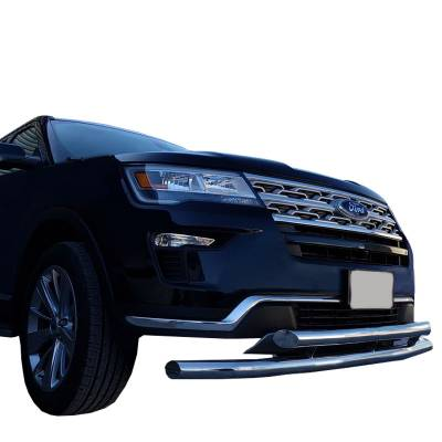 Front End Protection - Front Runners - Black Horse Off Road - Black Horse Front Runner Double Layer Stainless Steel 2013-2019 Ford Explorer Front Bumper Protector