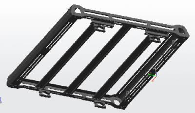 Black Horse Off Road - Black Horse Traveler Roof Rack Kit BA-JKDR-KIT40 Black Steel 2007-2018 Jeep Wrangler JK Hard top Includes 1 40in LED Light Bar - Image 4