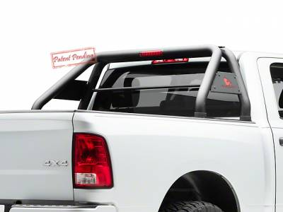 Products - Roll Bars - Black Horse Off Road - J | Classic Roll Bar Kit | Stainless Steel | 50in LED Light Bar | RB003SS-KIT