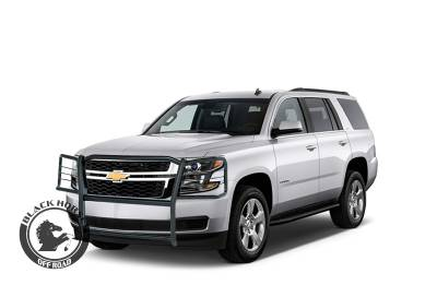 Products - Black Horse Off Road - Black Horse Grille Guard 17GT20MA - Black for  2015-2019 Chevy Tahoe /  Chevy Suburban 1500 Bumper Protector