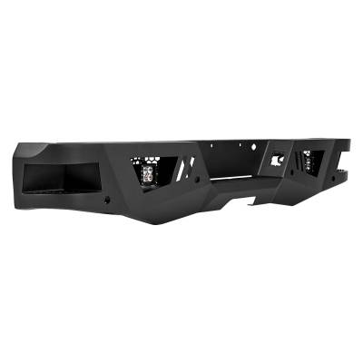 Black Horse Off Road - I | Heavy Duty Armour Rear Bumper Kit | Black | With LED Lights (2x pair LED cube) | ARB-CO15-KIT - Image 3