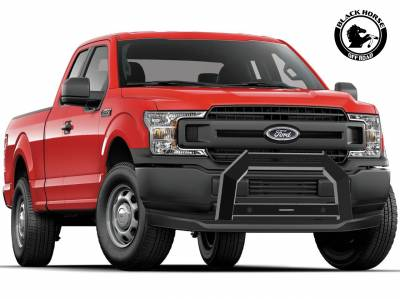 Products - Black Horse Off Road - Black Horse Black Steel Armour Bull Bar Bracket Super Duty-NO LED LIGHT For 11-19 Ford F250/350/450/550