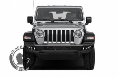 Black Horse Off Road - B | Armour Front Bumper | Black | AFB-WR19 - Image 4