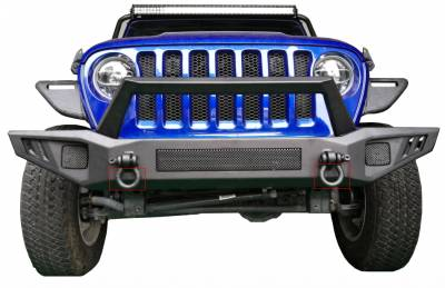 Black Horse Off Road - B | Armour Front Bumper | Black | AFB-WR19 - Image 2