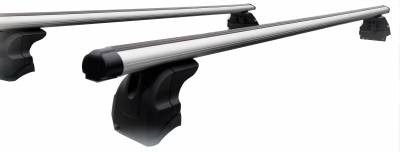 Roof Racks and Cargo - OEM Replica Cross Bar - M | Traveler Cross Bar | Black | 60in | Complete Roof Rack System