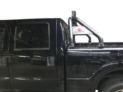 Products - Roll Bars - Black Horse Off Road - J | Classic Roll Bar | Black | Includes LED Light Bar