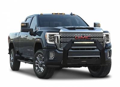 Black Horse Off Road - A   Armour LED Bull Bar   Matte Black   With 20in LED Light Bar  AB-GM27 - Image 2