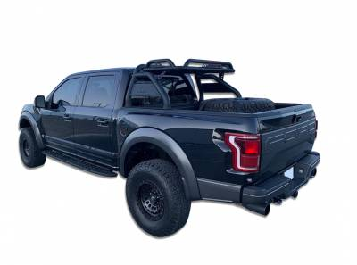 Black Horse Off Road - J | Atlas Roll Bar | Black | Compabitle With Most 1/2 Ton Trucks| RB-BA1B