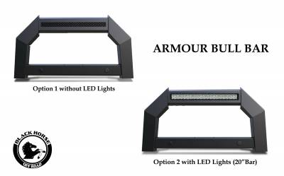 Black Horse Off Road - A | Armour LED Bull Bar | Matte Black | AB-TO20 | With 20in LED Light Bar - Image 7