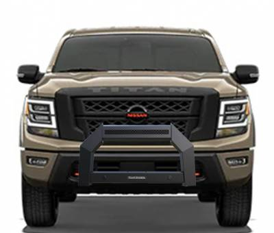 Products - Black Horse Off Road - A | Armour Bull Bar | Matte Black | AB-NI20-NL