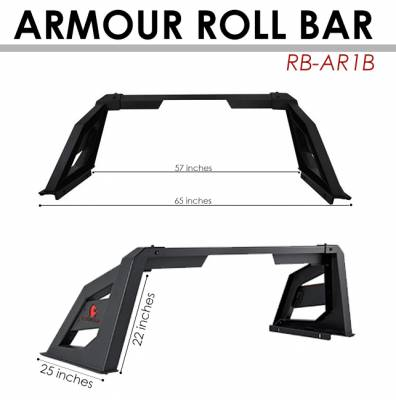 Black Horse Off Road - J | Armour Roll Bar | Black | ARB-NIFRB - Image 10