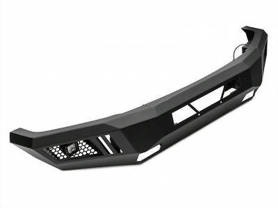 Black Horse Off Road - B | Armour Front Bumper Kit | Black | With LED Lights (1x 20in light bar, 2x pair LED cube) | AFB-SI16-KIT - Image 3