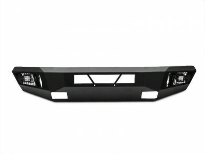Black Horse Off Road - B | Armour Front Bumper Kit | Black | With LED Lights (1x 20in light bar, 2x pair LED cube) | AFB-SI16-KIT - Image 4