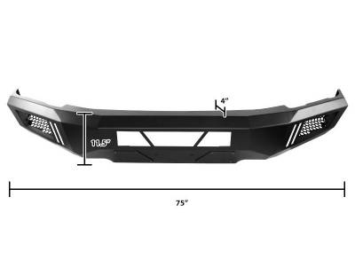Black Horse Off Road - B | Armour Front Bumper | Black | AFB-SI16 - Image 2