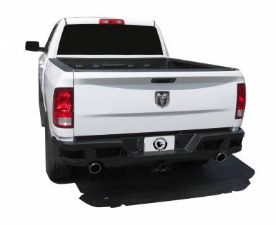 Bumpers - Rear Bumper - Black Horse Off Road - I | Armour Rear Bumper | Black | ARB - 2013 to 2018 Dodge Ram 1500