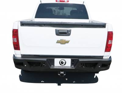 Black Horse Off Road - I | Heavy Duty Armour Rear Bumper | Black