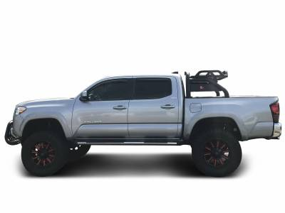 Black Horse Off Road - J | Atlas Roll Bar | Black | Tonneau Cover Compatible |  ATRB6BK