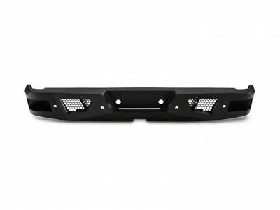 Black Horse Off Road - I | Heavy Duty Armour Rear Bumper Kit | Black | With LED Lights (2x pair LED cube) | ARB-CO15-KIT - Image 5