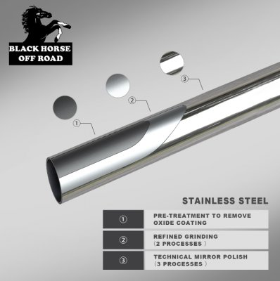 Black Horse Off Road - A   Bull Bar   Stainless Steel   Skid Plate   BB037411-SP - Image 70