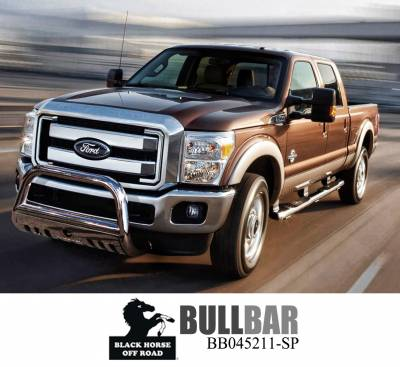 Black Horse Off Road - A | Bull Bar | Stainless Steel | Skid Plate | BB045213-SP - Image 10
