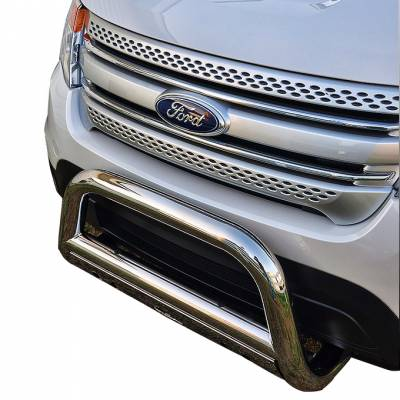 Black Horse Off Road - A | Bull Bar | Stainless Steel | Skid Plate | BB047611-SP - Image 2