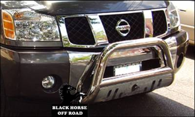 Black Horse Off Road - A | Bull Bar | Stainless Steel | Skid Plate | BB113205-SP - Image 8