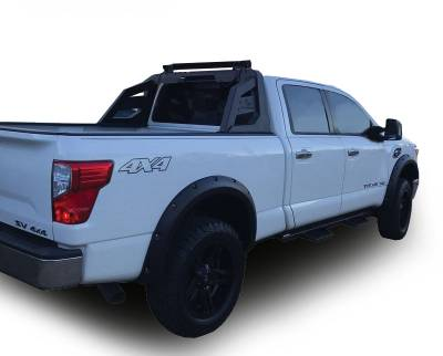 Products - Roll Bars - Black Horse Off Road - J | Armour Roll Bar Kit | Black | 50in LED Light Bar | RB-AR1B-KIT