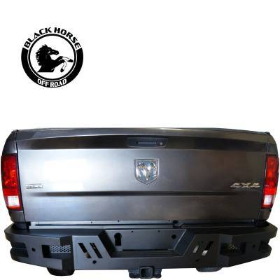 Bumpers - Rear Bumper - Black Horse Off Road - I | Heavy Duty Armour Rear Bumper | Black | ARB-RA20