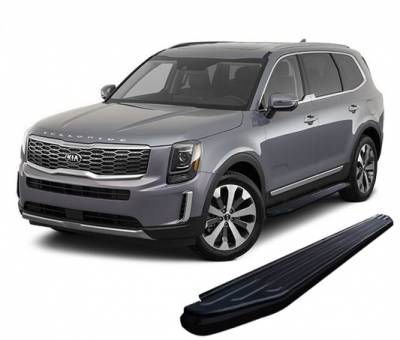 Products - Side Steps & Running Boards - Black Horse Off Road - E | Peerless Running Boards | Black | PR-K376BK