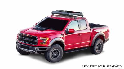 Roof Racks and Cargo - Universal Cross Bar - Black Horse Off Road - M   Traveler Cross Bar with Aluminum Basket   Black   52in   Complete Roof Rack System   TRRB252