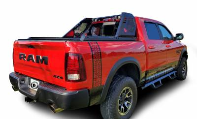 Products - Roll Bars - Black Horse Off Road - J | Vigor Roll Bar | Black | W/ LED Cube Light | VIRB02B