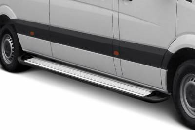 Black Horse Off Road - E | Transporter Running Boards | Silver | TR-G485S - Image 3