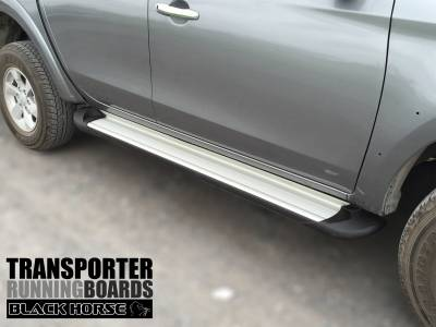 Black Horse Off Road - E | Transporter Running Boards | Silver | TR-G385S - Image 1