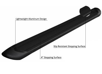 Products - Running Boards - Black Horse Off Road - E | Transporter Running Boards | Black | TR-G278