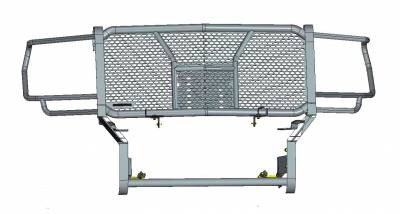 Black Horse Off Road - D | Rugged Grille Guard Kit | Black | With 20in Double LED Light Bar | RU-GMSI20-B-K1 - Image 2
