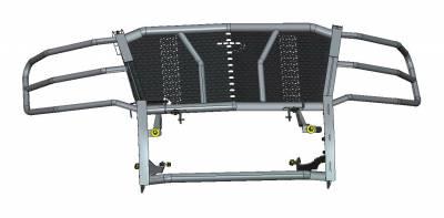 Black Horse Off Road - D | Rugged Grille Guard Kit | Black | With 20in Single LED Light Bar | RU-CHTA15-B-K2 - Image 1