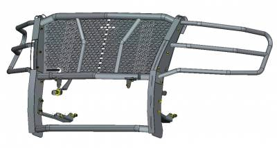 Black Horse Off Road - D | Rugged Grille Guard Kit | Black | With 20in Double LED Light Bar | RU-CHTA15-B-K1 - Image 3