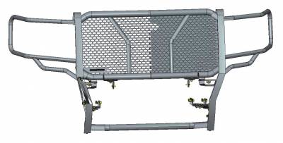 Black Horse Off Road - D | Rugged Grille Guard Kit | Black | With 20in Double LED Light Bar | RU-GMSI14-B-K1 - Image 2