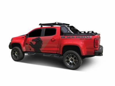 Products - Roll Bars - Black Horse Off Road - J | Vigor Roll Bar | Black | W/ LED Cube Light | VIRB05B
