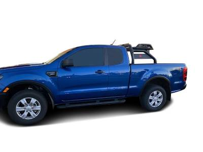 Black Horse Off Road - J | Atlas Roll Bar | Black | Tonneau Cover Compatible |  ATRB10BK - Image 2