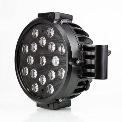 """Black Horse Off Road - D   Grille Guard Kit  Black   With Set of 7"""" Black LED - Image 15"""