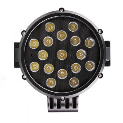 """Black Horse Off Road - D   Grille Guard Kit  Black   With Set of 7"""" Black LED - Image 11"""