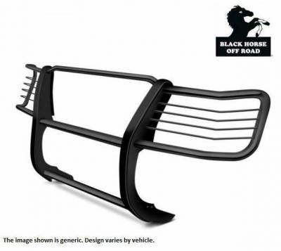 "Black Horse Off Road - D | Grille Guard Kit| Black | With Set of 7"" Red LED - Image 2"